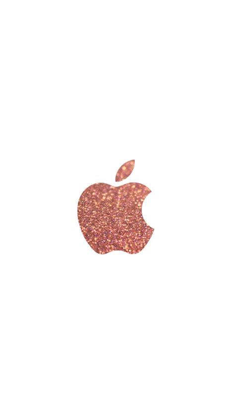 wallpaper apple rose gold rose gold glitter apple logo iphone 6 wallpaper click