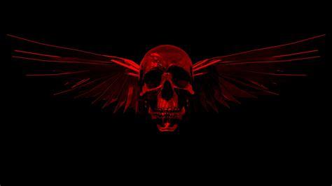 wallpaper black skull red and black skull wallpapers group 72