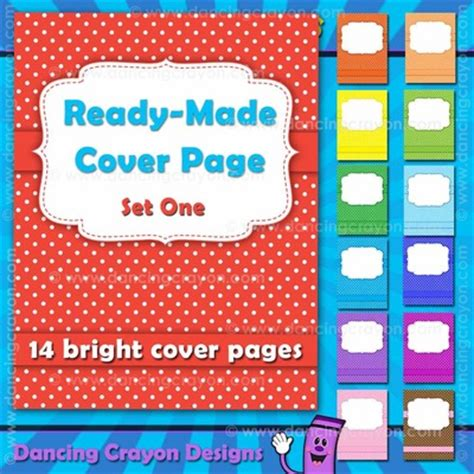ready made cover page bright polka dots