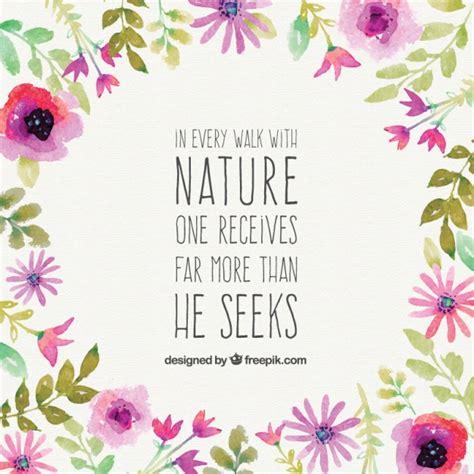 imagenes de flores kiut frase bonita de naturaleza descargar vectores gratis