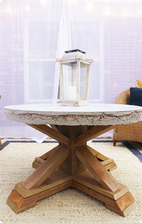concrete top outdoor coffee table knockoffdecorcom