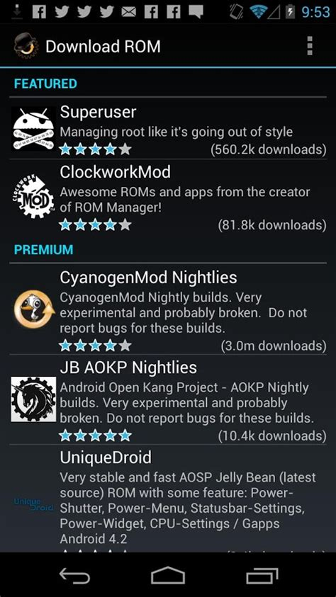 rom manager apk premium rom manager premium android apps on play