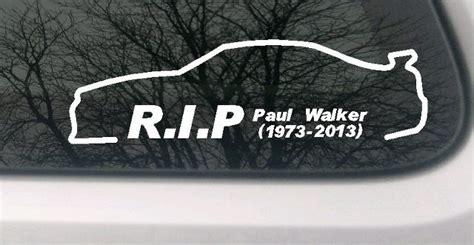 Paul Walker Spruch Aufkleber paul walker auto aufkleber car sticker fast and furious