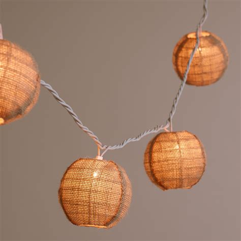 burlap lantern string lights burlap 10 bulb string lights world market