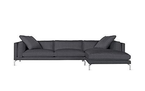 dwr sectional como sectional chaise design within reach