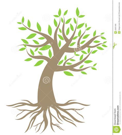 clipart alberi albero con le radici illustrazione vettoriale