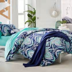 blue teen bedding deco medallion duvet cover sham pbteen