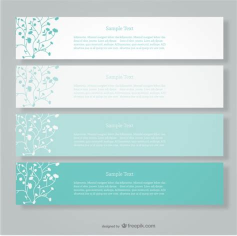 minimalist design banner floral vector banners minimalist design vector free download