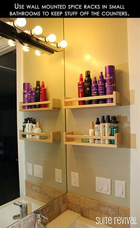Small Wall Spice Rack Use Wall Mounted Spice Racks In Small Bathrooms To Keep