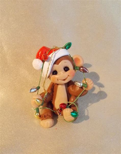 monkey christmas ornament children personalized gift by