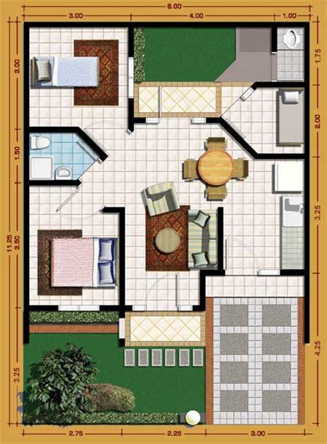 Desain Kamar Mandi Praktis   12 desain rumah minimalis 3 kamar tidur praktis rumah impian