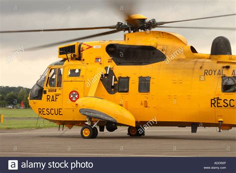Usaf Search Royal Air Westland Sea King Har 3 Search And Rescue Helicopters Stock Photo