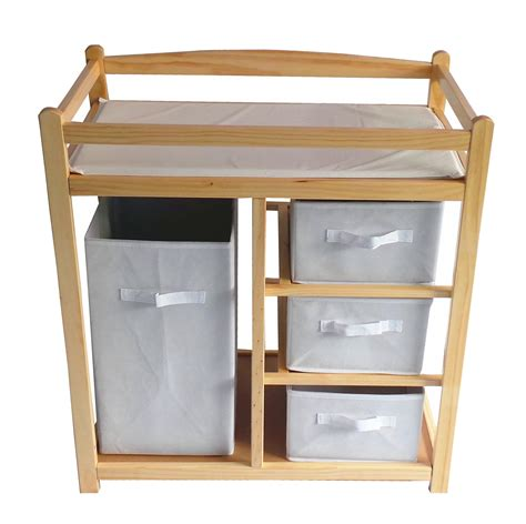 toddler changing table foxhunter baby changing table unit station storage drawers
