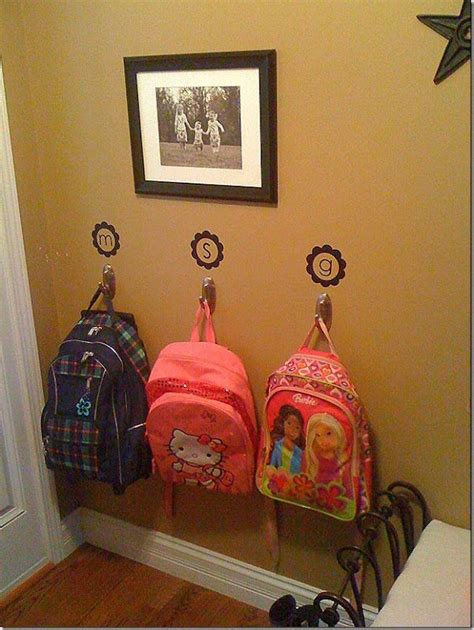 ideas for hanging backpacks for when you get home you can hang your stuff up and be