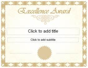 Free Award Certificates Templates To by Golden Excellence Award Certificate Template