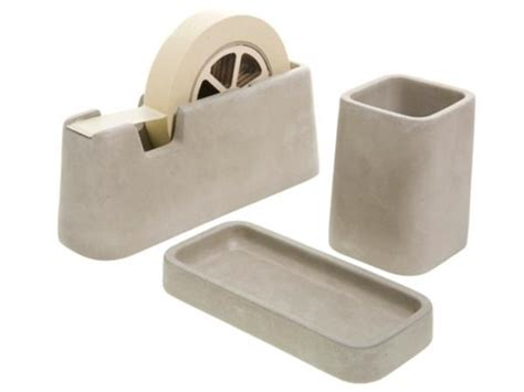 Areaware Concrete Desk Accessories Gadgetsin Desk Accessory
