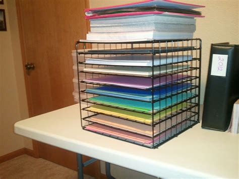 How To Make A Paper Organizer - scrapbook paper organizer reducing desk