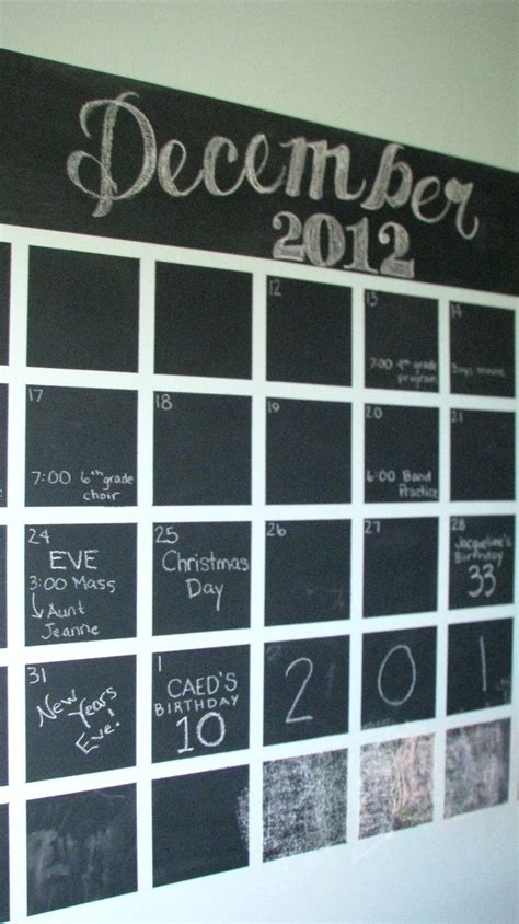 diy chalkboard wall calendar two blue houses diy chalkboard wall calendar