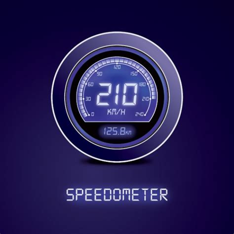 speedometer check section digital speedometer vector free download