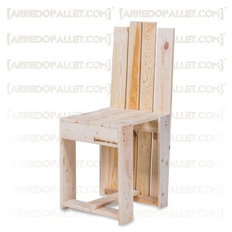 sedie con pallet sedia wuul in pallet riciclato on line