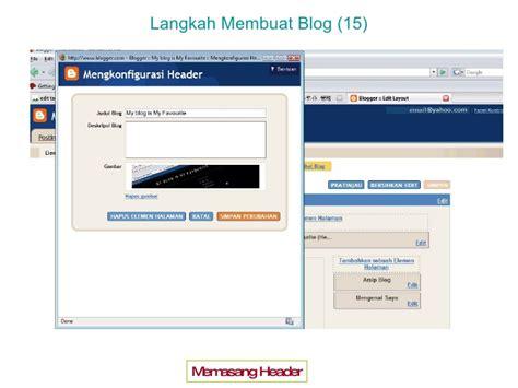 membuat blog blogspot pelatihan membuat blog penghasil uang