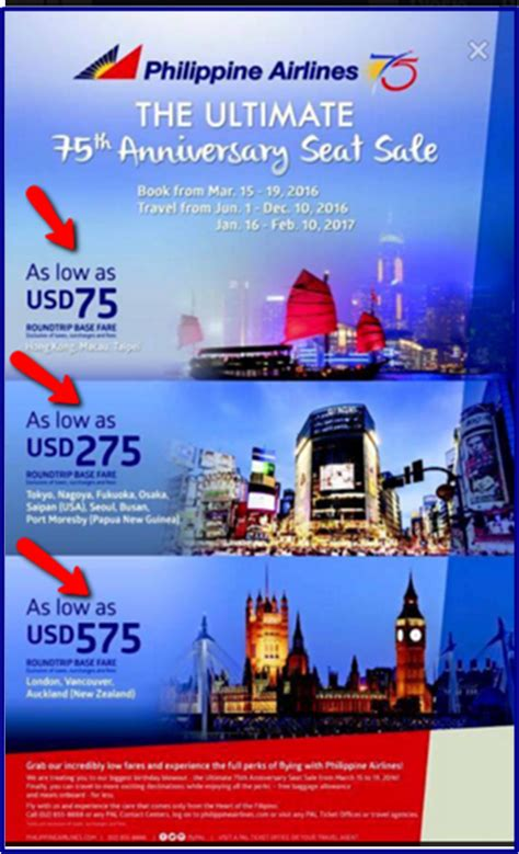 new year flight promotion philippine airlines 2016 2017 international promo fare for
