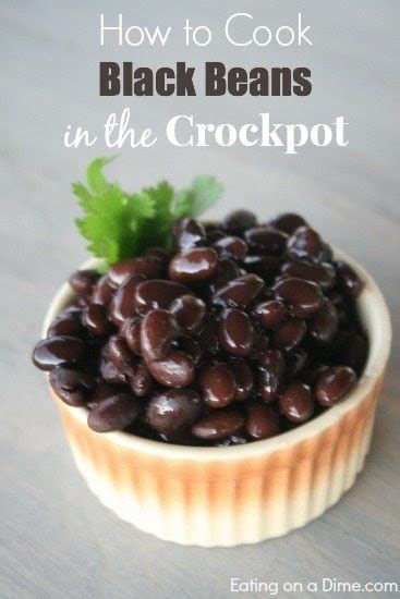 how to cook black beans in the crockpot and how to freeze them eating on a dime