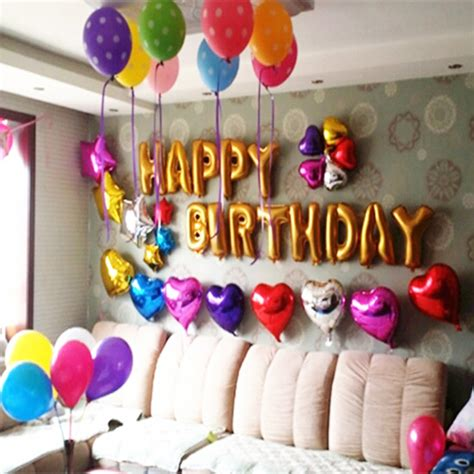 Decorating Ideas For Birthday At Home by Birthday Decorations At Home Birthday Decoration