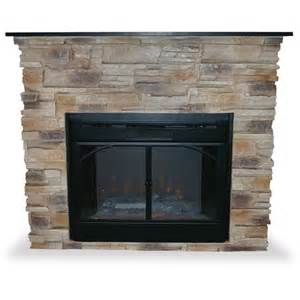 indoor electric fireplace w stacked surround