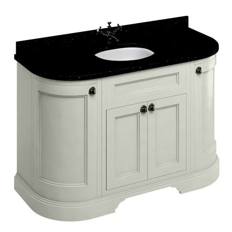curved bathroom vanity unit burlington 134 curved vanity unit with double doors uk
