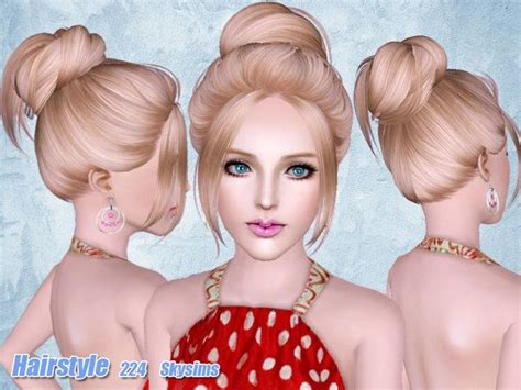 hair 217 by skysims sims 3 downloads cc caboodle hair 224 by skysims sims 3 downloads cc caboodle the