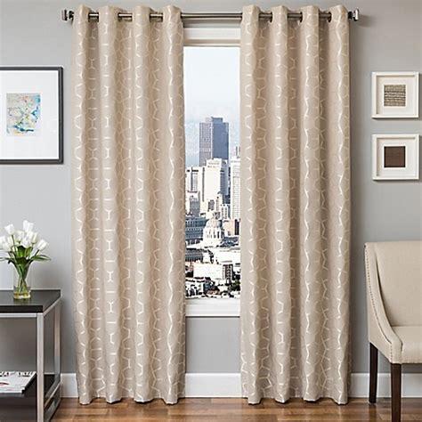 jacquard curtain panels softline dante jacquard grommet top window curtain panel