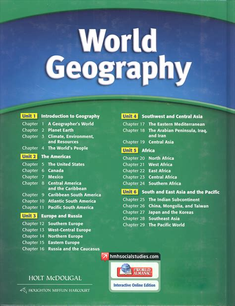 world building guide workbook books holt mcdougal world geography homeschool package 029573
