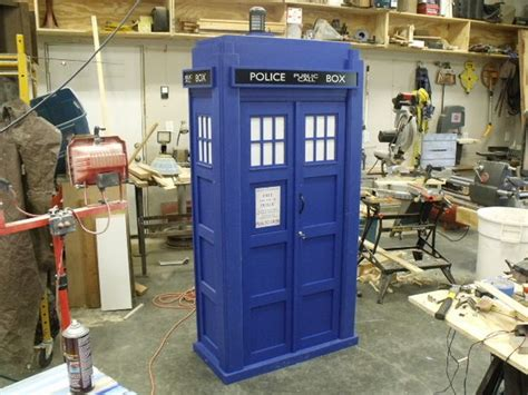 tardis bookshelf with sound and lights
