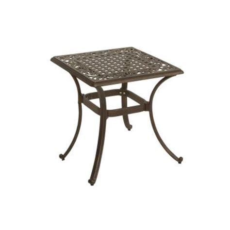 Martha Stewart Patio Table Martha Stewart Living Miramar Patio Side Table Discontinued Ly58 St22 The Home Depot