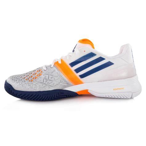 adidas adizero feather iii s tennis shoes white blue zest