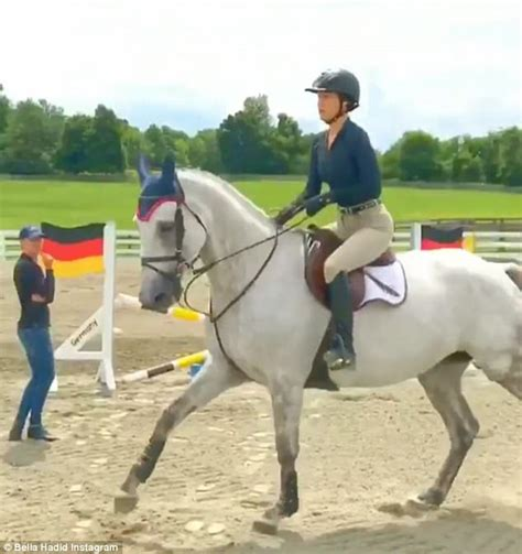 yolanda foster horse riding bella hadid s heart is re filled with love as she goes