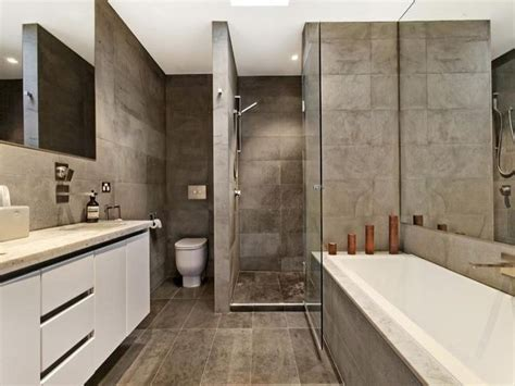 polished concrete in bathroom bathroom ideas with polished concrete tiles corner bath