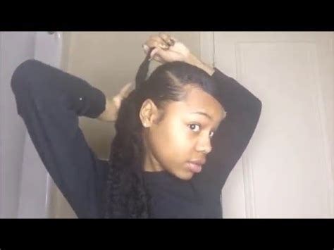 hair swoop to the side slick back on one side for african american women vintage swoop slick back ponytail on natural hair youtube