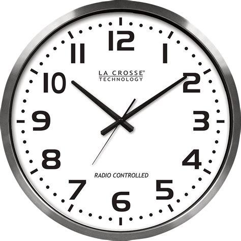 wall watch la crosse 20in atomic analog wall clock www kotulas com free shipping