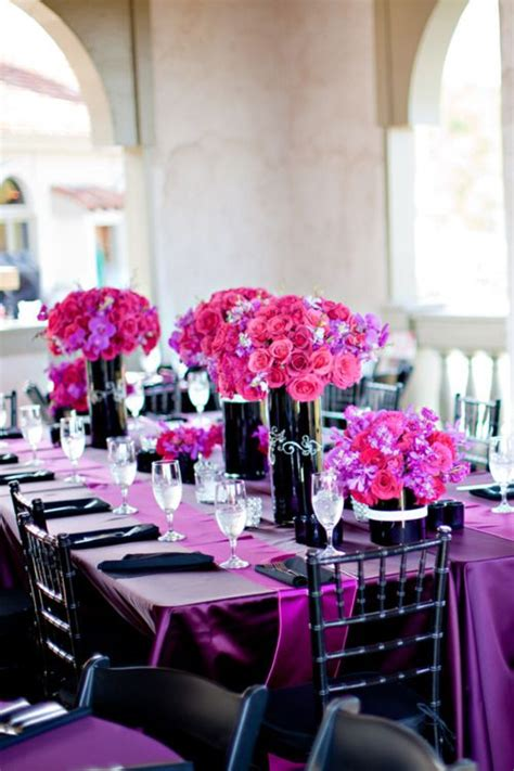 Black And Purple Table Decorations by Best 20 Purple Black Wedding Ideas On