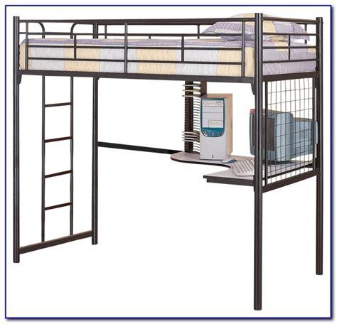 metal loft bunk bed with desk metal loft bed with desk canada desk home design ideas