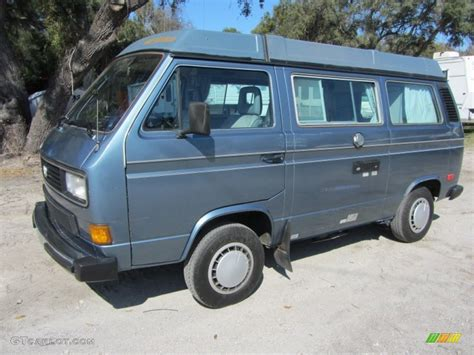 Dove Blue Metallic 1987 Volkswagen Vanagon Gl Cer