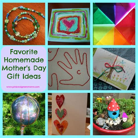 Handmade Mothers Day Ideas - pink and green s day gift ideas