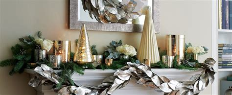 christmas mantel decorating ideas crate and barrel