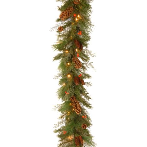 warm white garland national tree company 6 ft decorative collection white