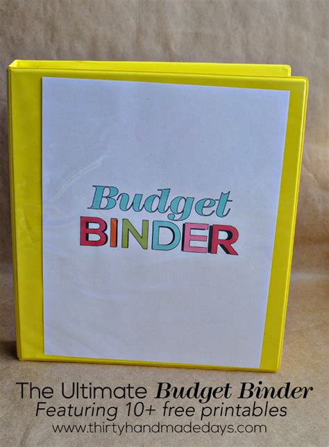 30 Handmade Days - printable budget binder thirty handmade days auto design