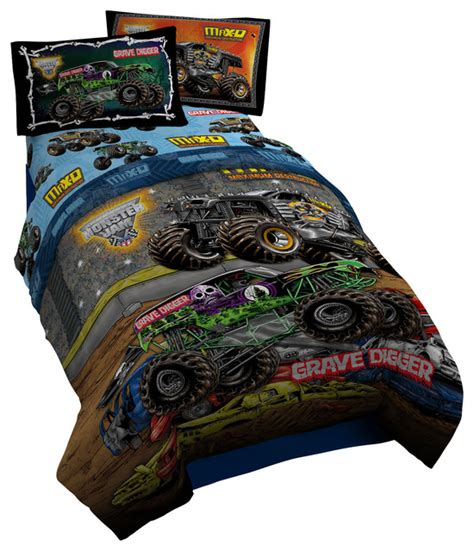Monster Jam Bedroom | monster jam twin comforter contemporary kids bedding