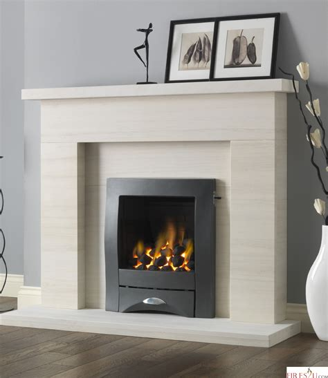 Gas Fired Fireplace by Pureglow Drayton Limestone And Gas Suite Gas