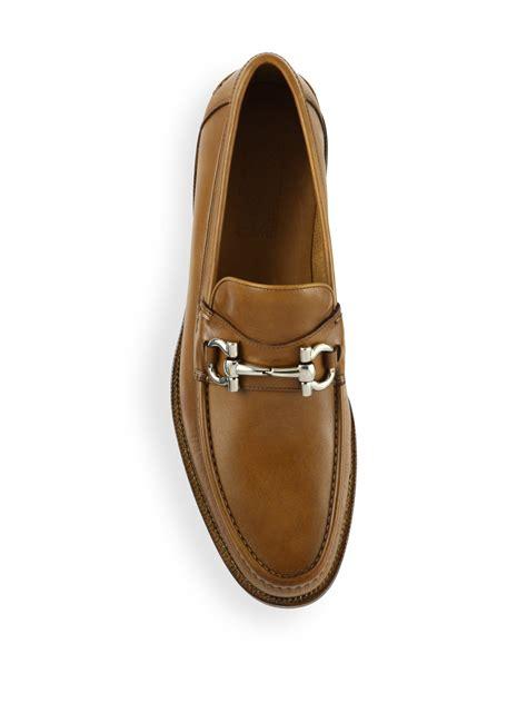 Ferragamo Shoes Import 4 ferragamo loriano leather bit loafers in brown for lyst